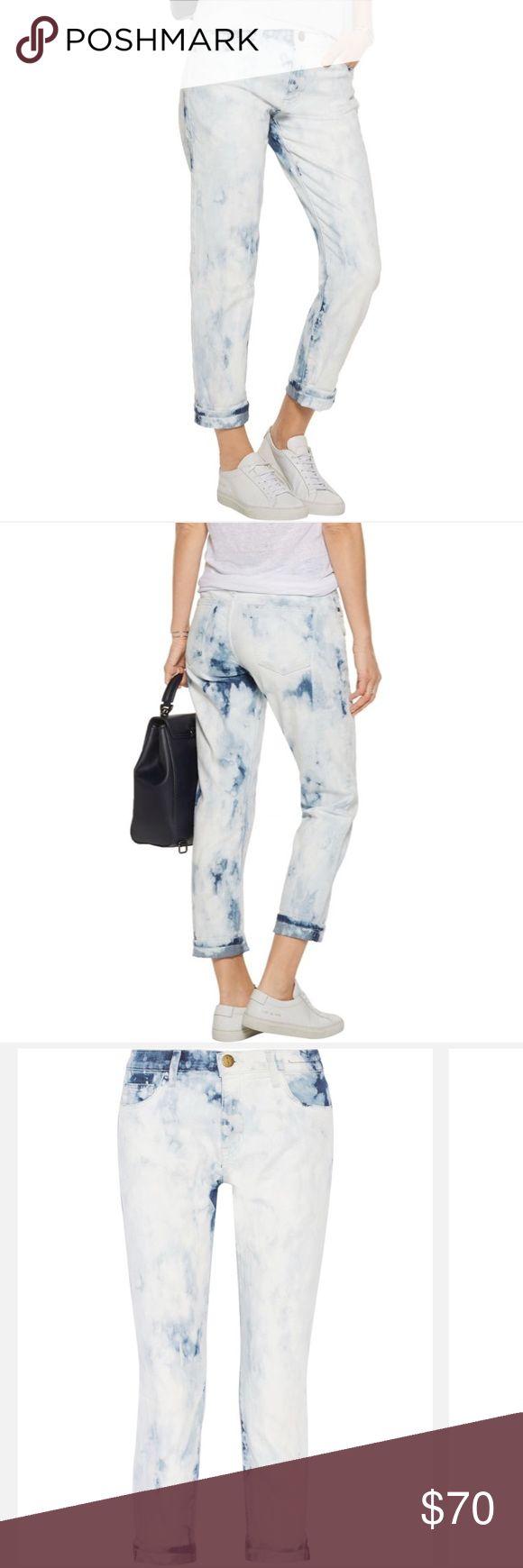 Current/Elliott Fling acid Tie-dye Mid-rise Jeans Current/Elliott Women's Blue The Fling Tie-dye Mid-rise Slim Boyfriend Jeans - excellent condition, only worn max 3 times! Current/Elliott Jeans Boyfriend