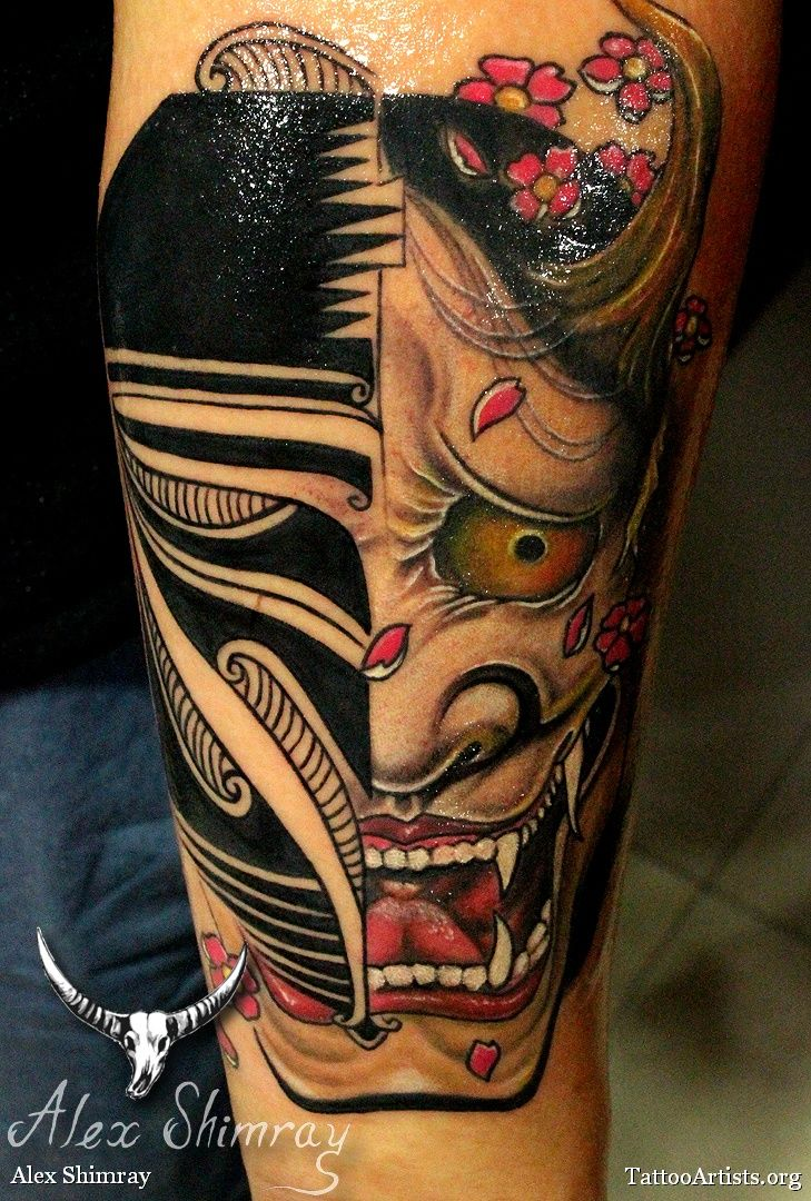 Hannya | Hannya Mask TattooDesign...by artist unknown...the design was brought ...
