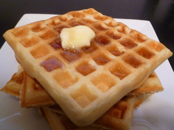 Sourdough waffles - Delicious! These only require 1C of starter and can be made completely in the AM so are great if you have a starter fire up fail.