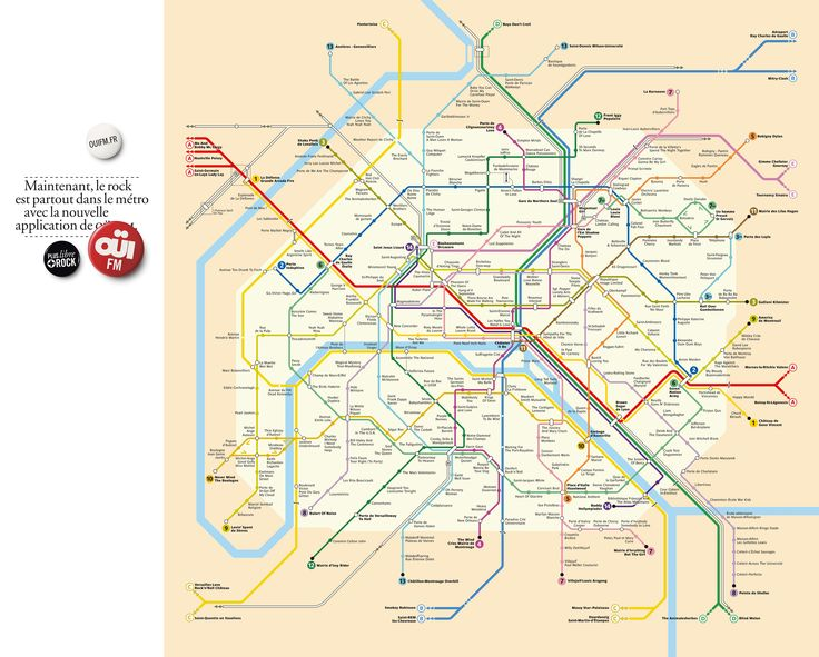 Paris tube map R O C K S with new station names RT @ouifm (This is awesome!! I'm Megabbesses :) )