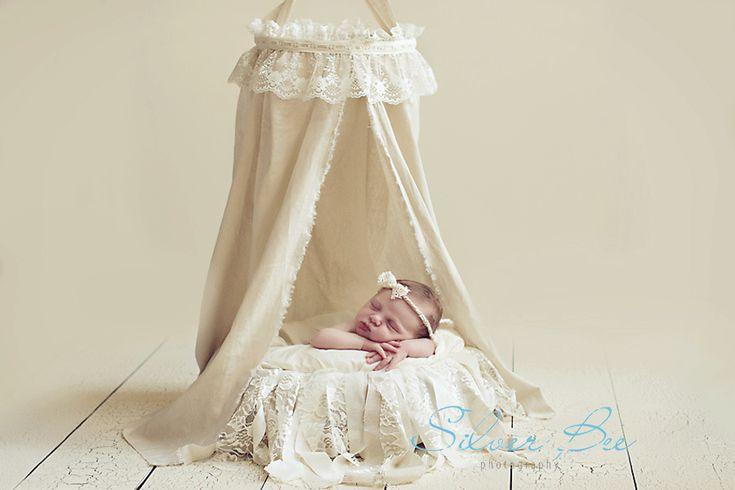 DIY Fabric and Lace Canopy for Newborn Photography   Austin Newborn Photographer