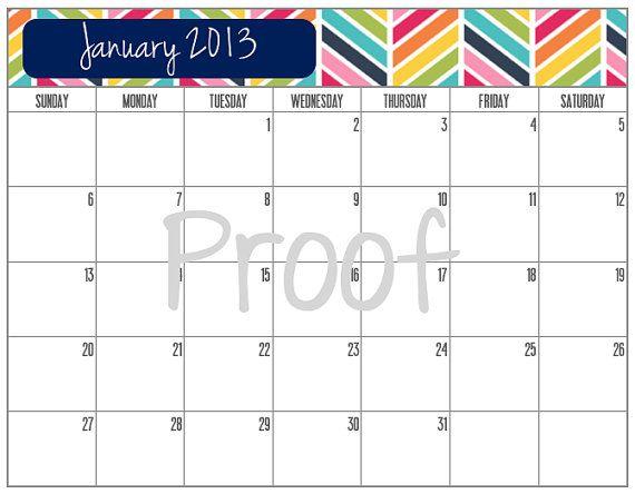 12 best Printable Calendars images on Pinterest 2013 calendar - printable calendars