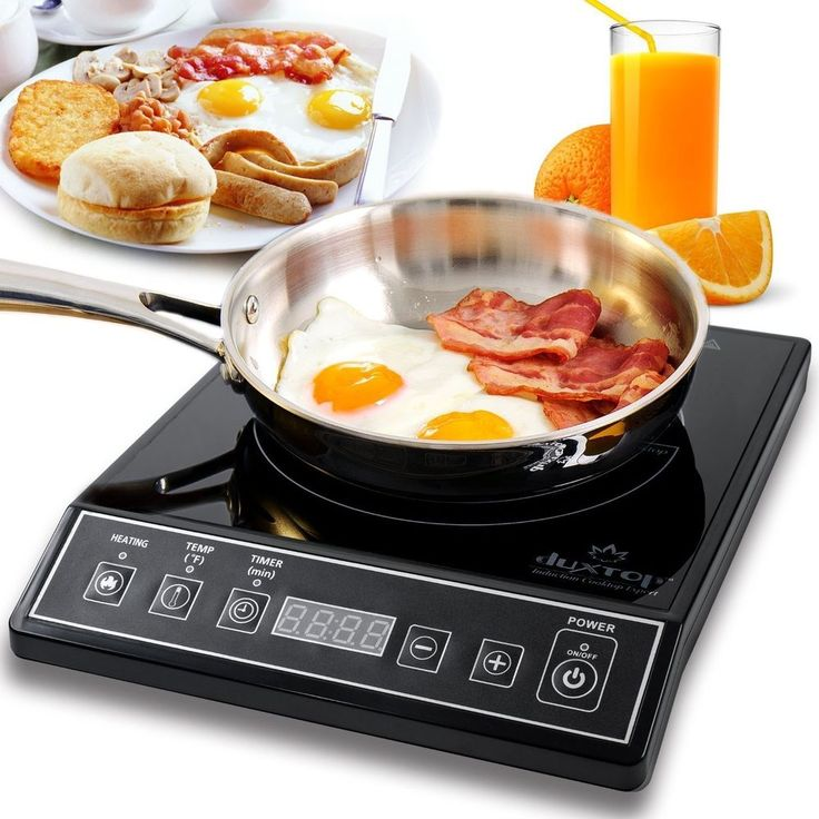 Induction Electric Cooktop Deluxe Commercial Digital Cooker Portable Countertop…