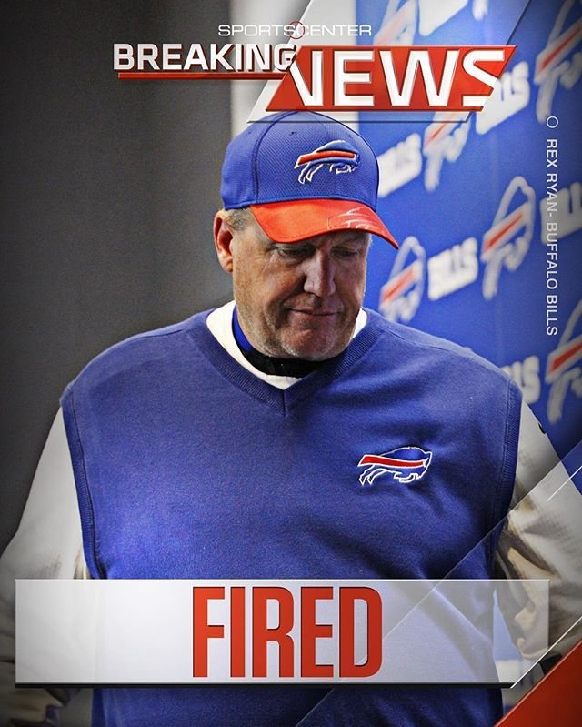 The Buffalo Bills have fired head coach Rex Ryan & defensive assistant Rob Ryan.