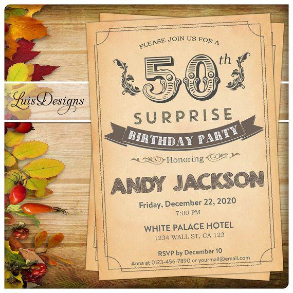 7 best 50th birthday invitation black suit birthday party surprise birthday invitation 50th birthday by luisdesigns on etsy filmwisefo Choice Image