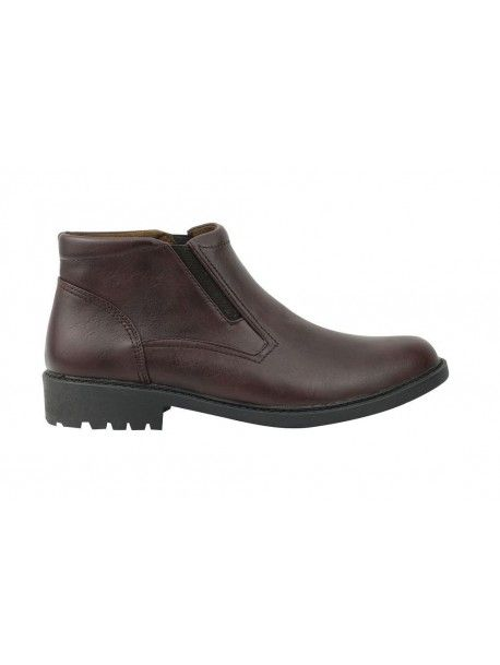 Men Black Brown Tan Faux Leather Smart Casual Chelsea Dealer Boots Shoes UK Size