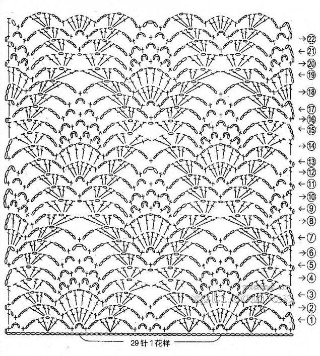 Mejores 602 imágenes de c.puntos crochet en Pinterest | Patrones de ...