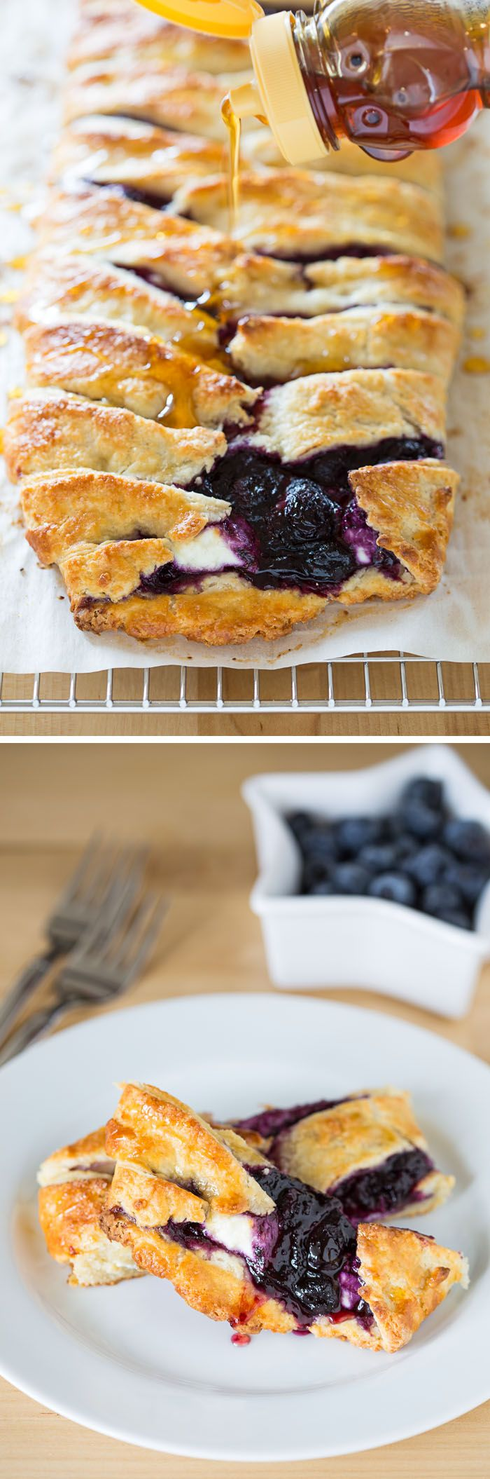 This Blueberry Goat Cheese Pastry Braid is the perfect appetizer! The recipe is super easy but results in a gorgeous, delicious, fancy pastry braid!