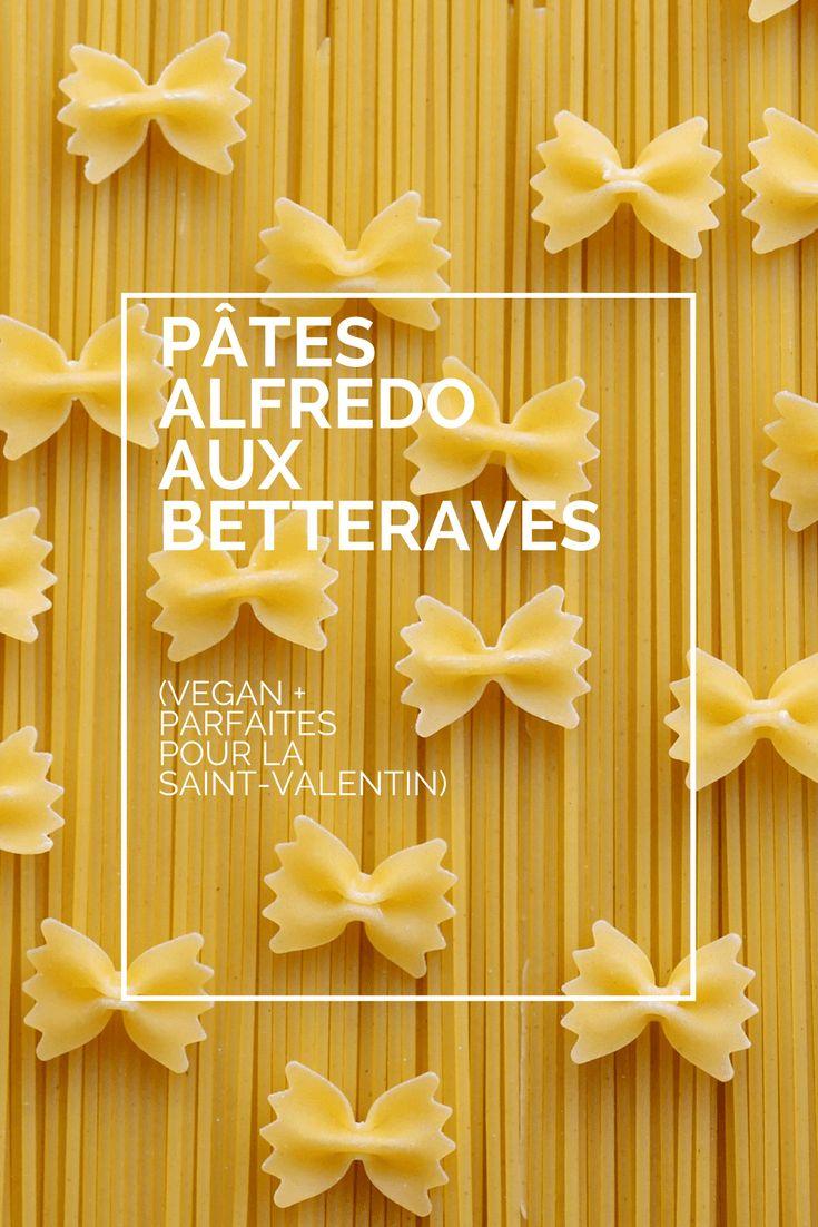 Un repas sans cruauté aux couleurs de l'amour parfait pour la Saint-Valentin. Ces pâtes Alfredo véganes aux betteraves sont délicieuses et faciles à faire!