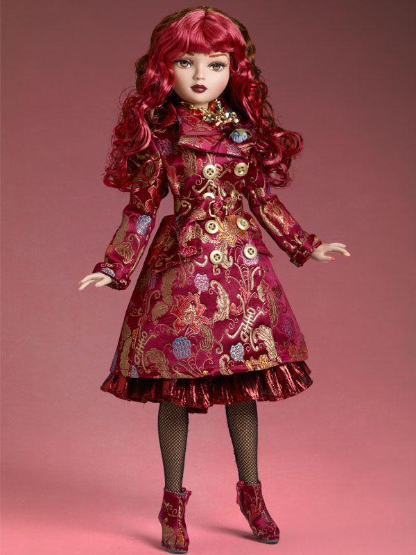Image result for pink brocade doll dress