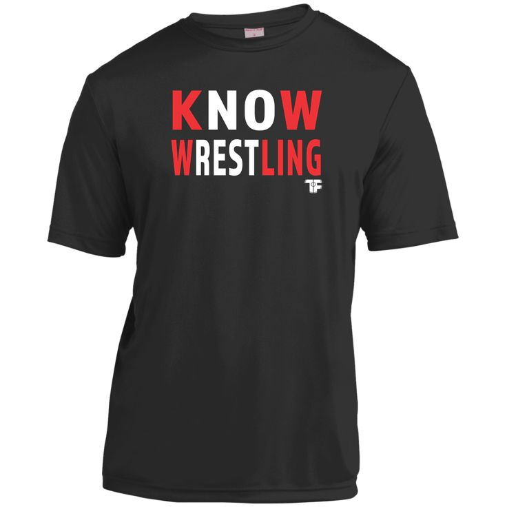 KNOW WRESTLING - 3.8 ounce 100% polyester - Double-needle sleeves and hem