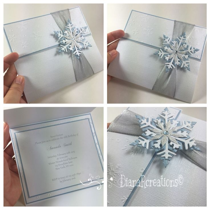 Cute winter wonderland invitations! #dianarcreations #invitations #invites #invite #handmade #handmadeinvitations #handmadeinvites #handmadeinvitation #sweet16th #wedding #snowflakes #winterwonderlandinvitation #winterwonderland #winterwonderlandwedding #winterwonderlandsweetsixteen #winterwondelandinvitations