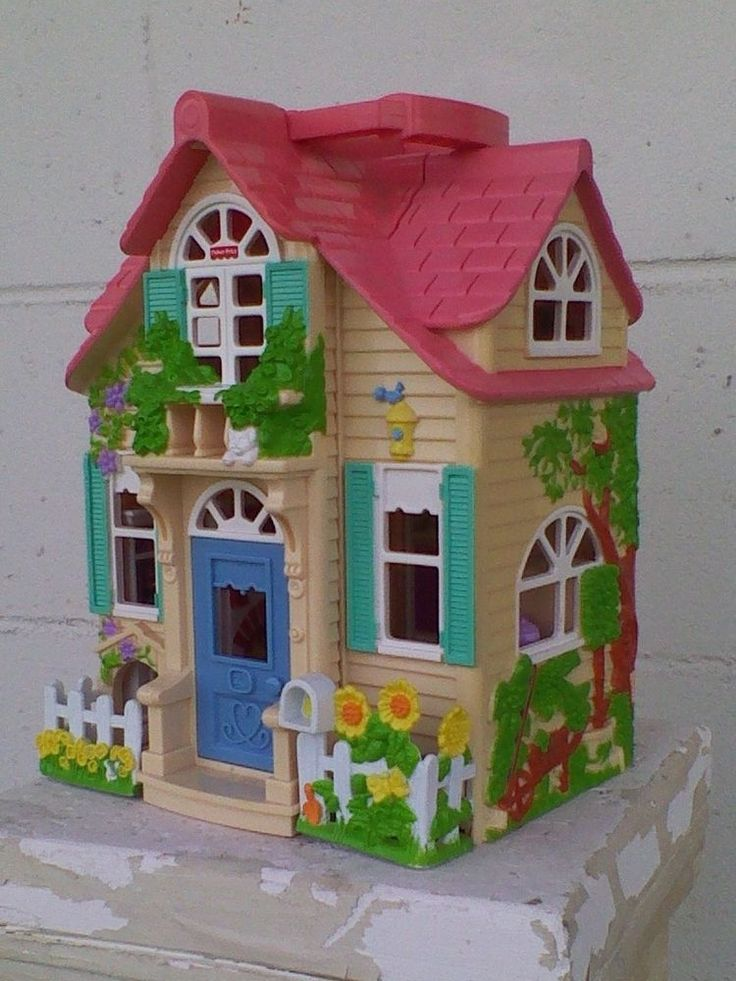 2000 Mattel Fisher Price Loving Family Sweet Streets Cottage House Doll House #FisherPrice