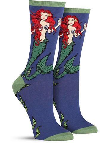 Large Mermaid Socks   Womens