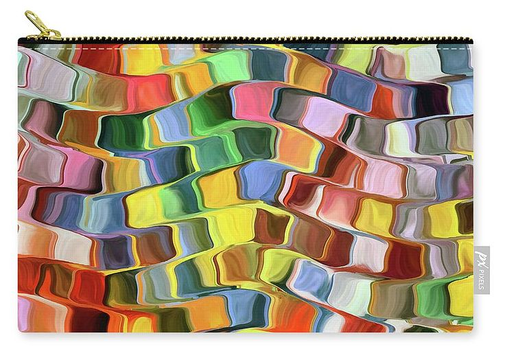 Abstract Carry-all Pouch featuring the painting Colorful Pop Abstract by Grigorios Moraitis