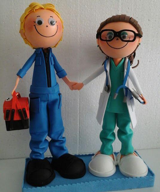 Muñecos Goma Eva. EXPIRUCHAS: Peculiar pareja de novios