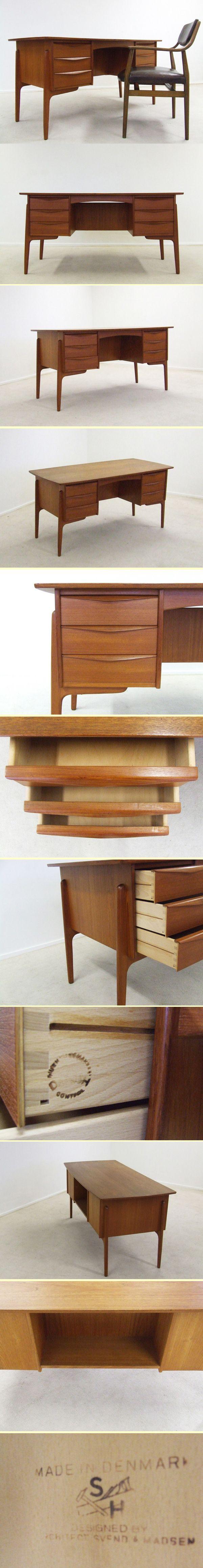 Svend and Madsen teak desk for Sigurd Hansen 4236 Typical danish design desk Designers Svend & Madsen Manufacturer Sigurd Hansen Den…