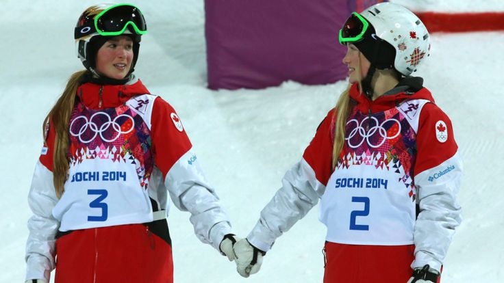 Winter Olympics, Canada's Dufour-Lapointe sisters, Gold and Silver (2014)
