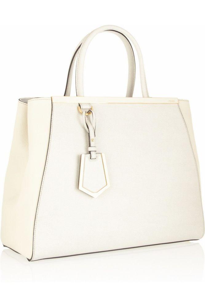 1e77c0cd6e26 Fendi 2Jours medium white textured-leather shopper USED