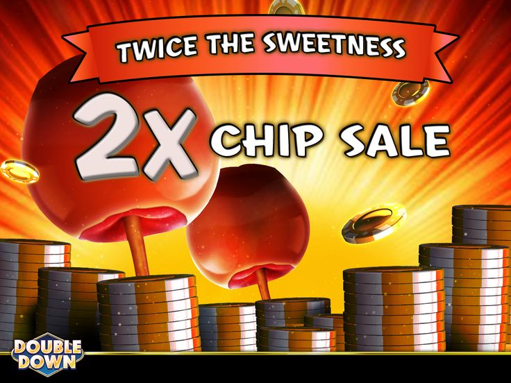 (EXPIRED) It's a sweet day for a 2x chip sale! Get twice the fun, through 11 PM Pacific Time. And for 150,000 FREE chips, just tap the Pinned Link (or use code NKMPGK)