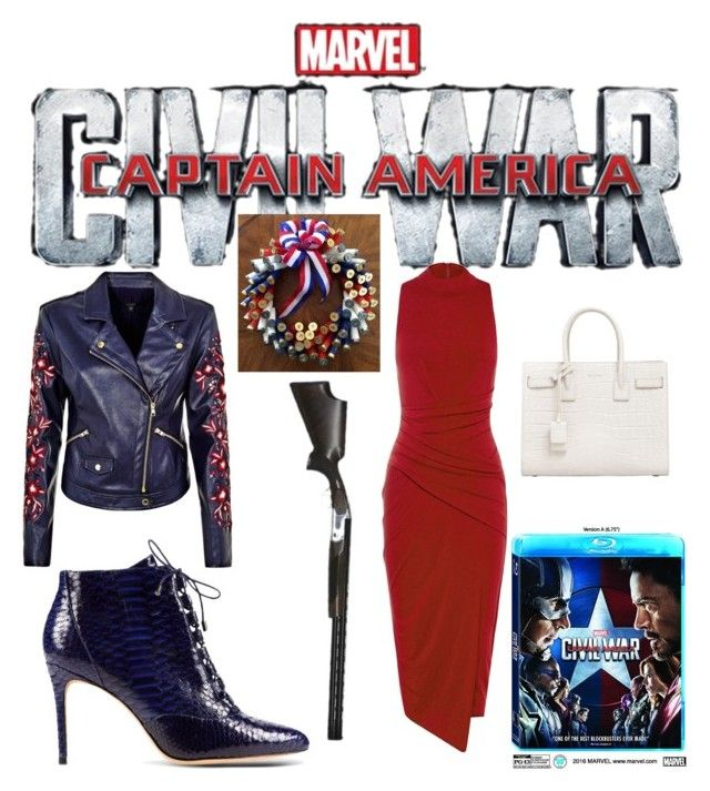 """""""Contest: Captain America Civil War"""" by pinnulinen on Polyvore featuring Alexandre Birman and Yves Saint Laurent"""