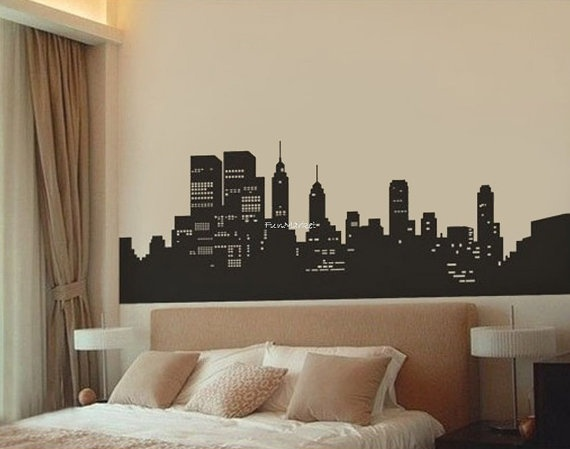 19 best images about new york theme on pinterest stop for Cityscape bedroom ideas