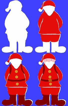 Pochoir Père Noël à imprimer
