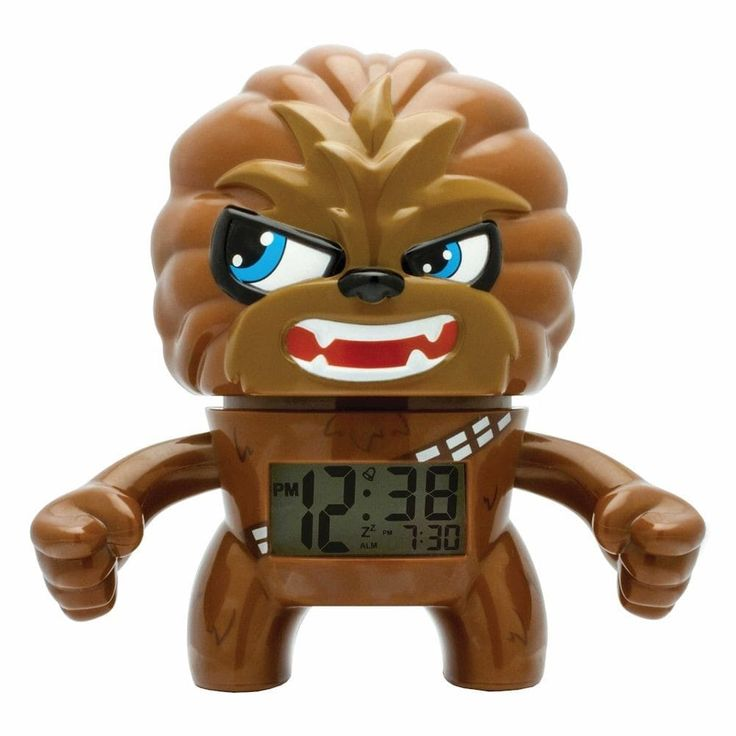 Schylling Star Wars Chewbacca Alarm Clock, Brown (Plastic)