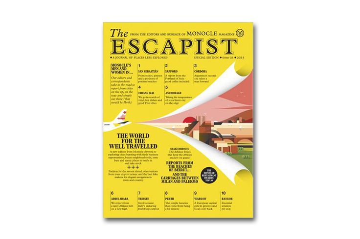 Monocle Introduces 'The Escapist' a new summer magazine. The Escapist will also look at 10 cities around the world in closer depth than ever before. Offering a different perspective at these budding hotspots – which include Warsaw, San Sebastian, Anchorage and Chiang Mai, readers will surely enjoy an eye-opening read while broadening their horizons without having to leave their seats.