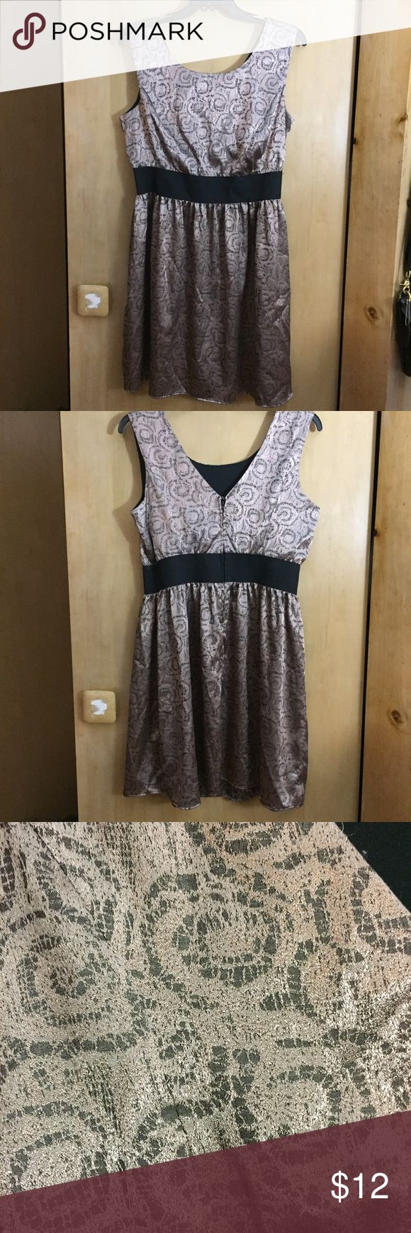 Metallic Party Dress A sleeveless metallic fit and flare dress with v-cut in back Forever 21 Dresses Mini
