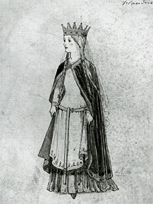 Matilda of Flanders, the first Norman queen of England.  She was the wife and consort of William the Conqueror.  She is also the shortest reported English.  You can follow her and William's line all the way down the the current queen, Elizabeth II