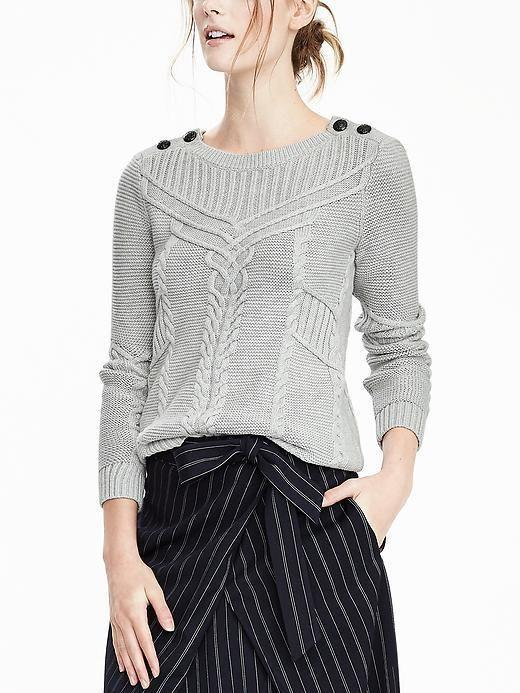 Nautical Sweater / fall fashion / women's fashion / fall looks / women's clothing /  sweater / grey sweater / #ad