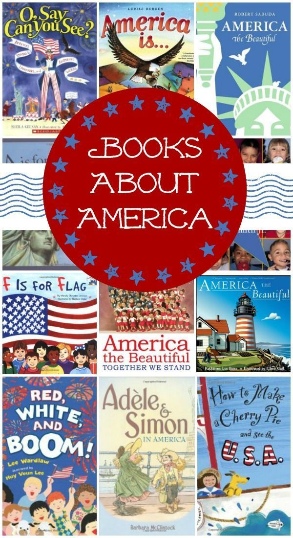 Classic and popular children's books About America & the 4th of July (from Fantastic Fun & Learning)
