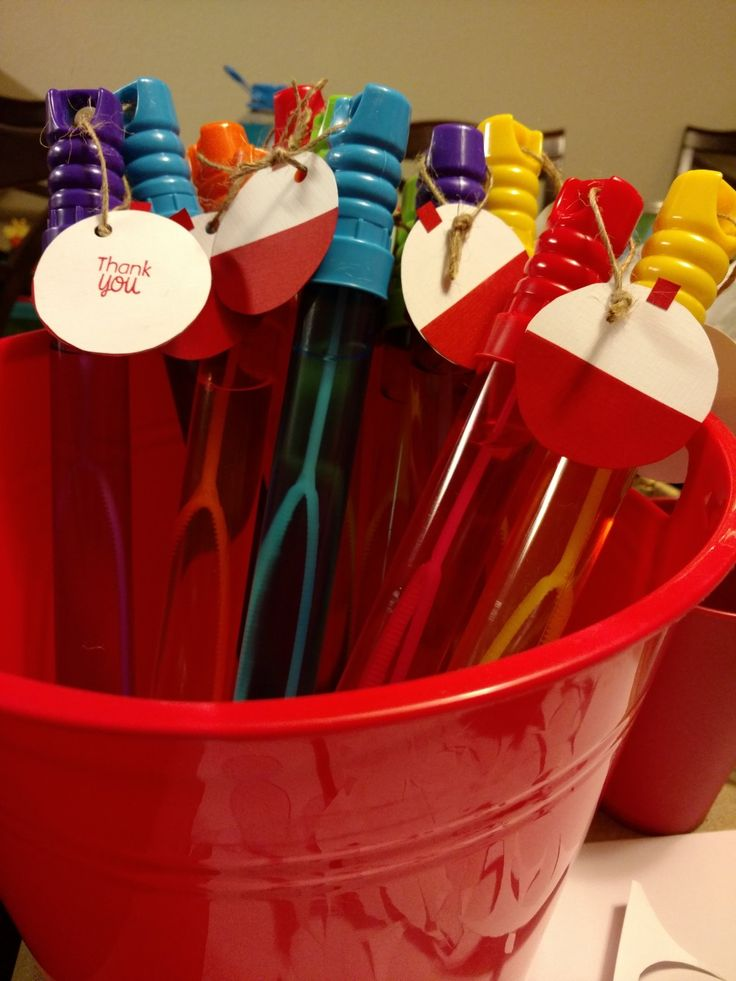 Gone fishing party favor bubble wands