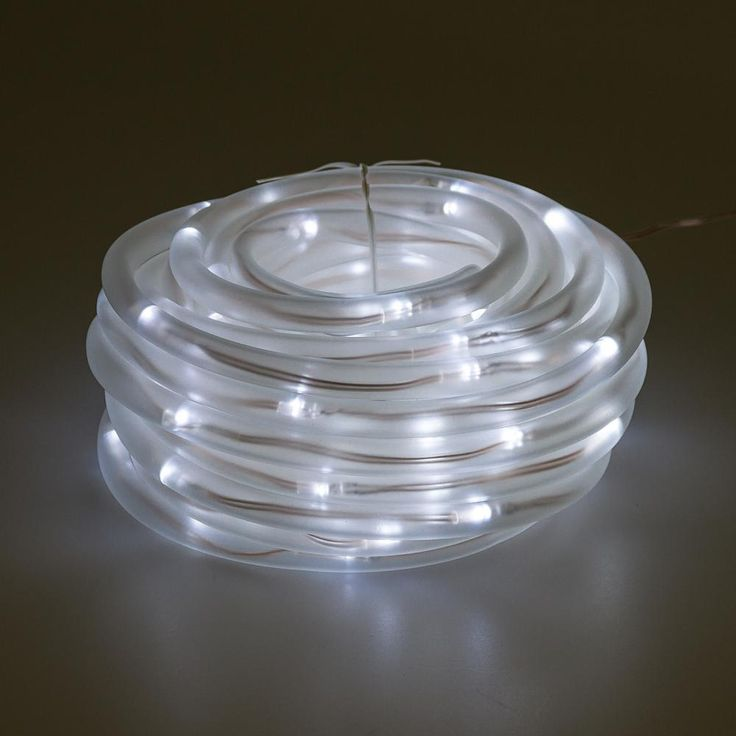 100 Light 32 ft. Solar Powered Integrated LED Warm White Christmas Rope Lights