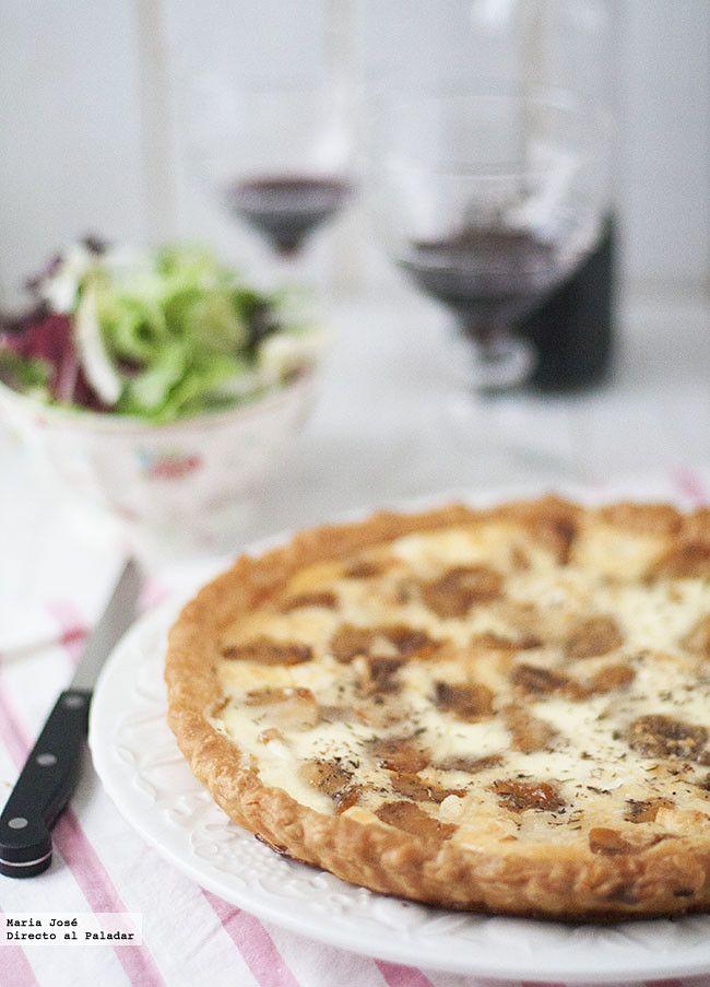 Esta receta de tarta de ajos caramelizados es de las mejores tartas saladas que he preparado. Es del libro El vegetariano gourmet de Yotam Ottoleng...