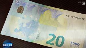 Der neue 20-Euro-Schein. (Screenshot: ProSieben)