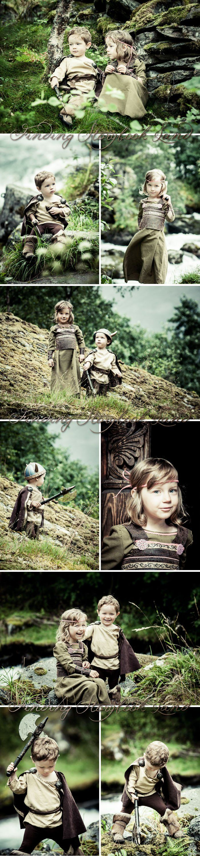 A basic guide on how to do a viking themed children's photo session with costume, prop, and location ideas and tutorials from findingstorybookland.com