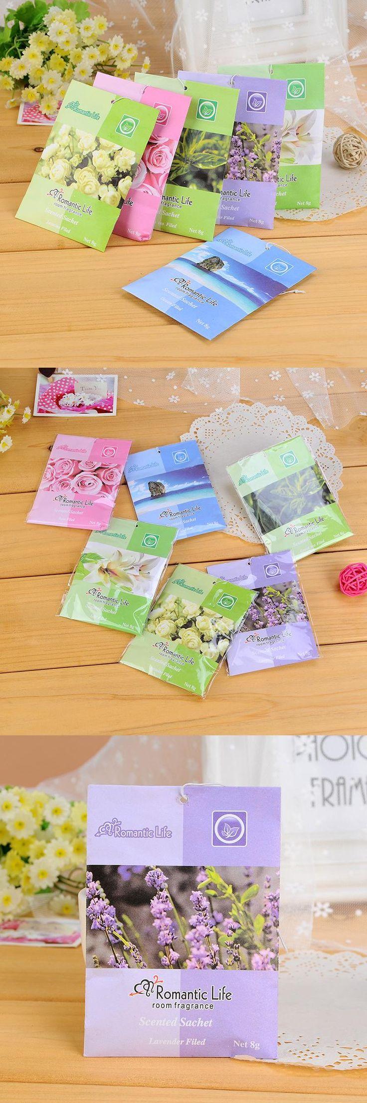 [Visit to Buy] Lovely 9 Taste Fresh Air Scented Fragrance Home Wardrobe Drawer Car Perfume Sachet Bag New 5pcs/pack #Advertisement