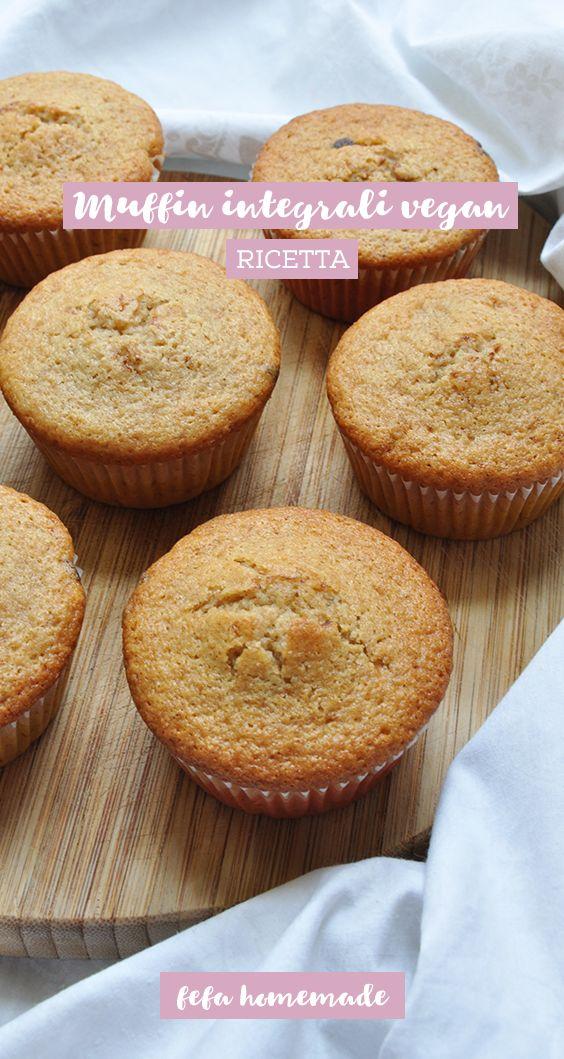 #Muffin realizzati con farina di tipo 1, senza uova, latte o burro. #fefahomemade
