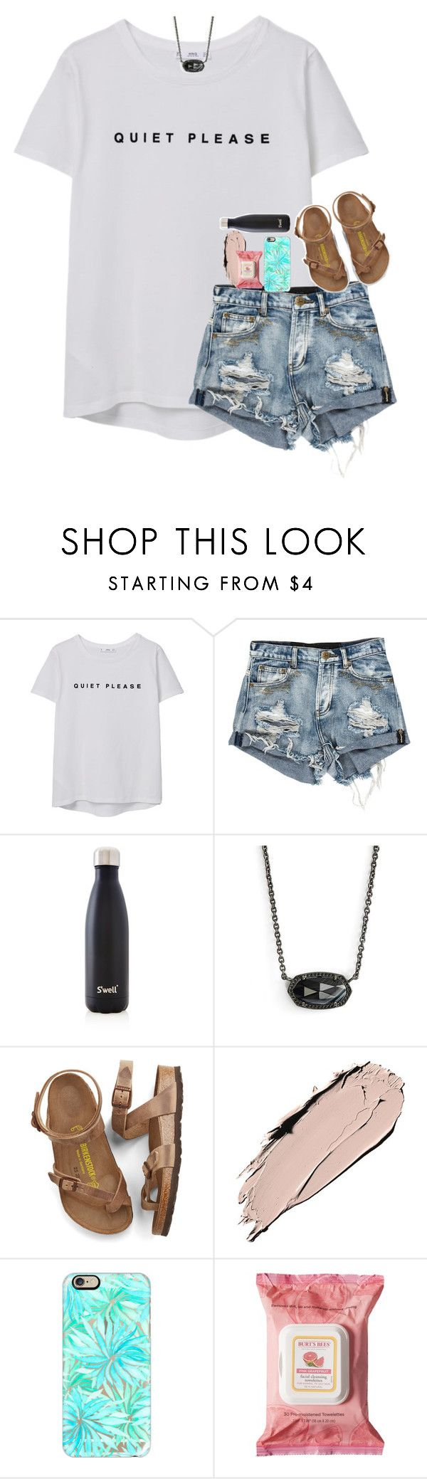"""watching another cinderella story lol"" by hmcdaniel01 ❤ liked on Polyvore featuring MANGO, S'well, Kendra Scott, Birkenstock, Casetify and Burt's Bees"