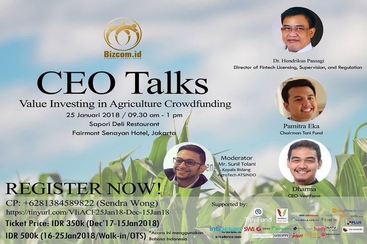 CEO TALKS EVENT – VALUE INVESTING IN AGRICULTURE CROWDFUNDING | Dunia Fintech