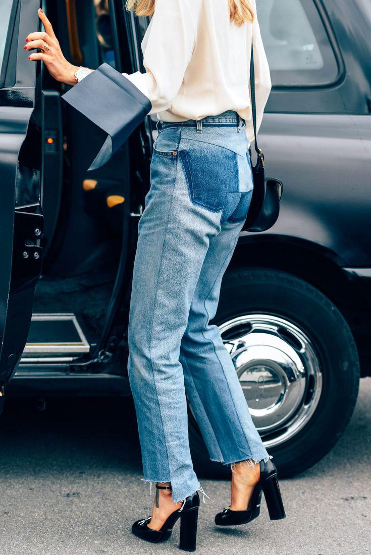 How to wear raw hem jeans like a street style star