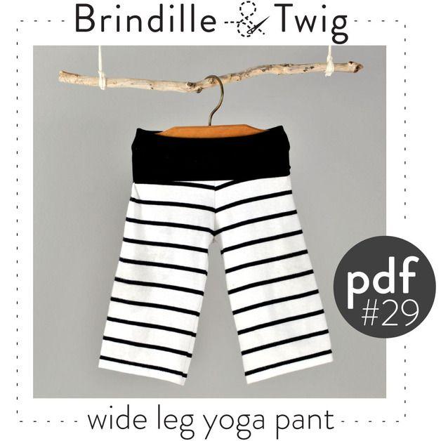 Baby-yoga broek patroon DIGITAL FILE