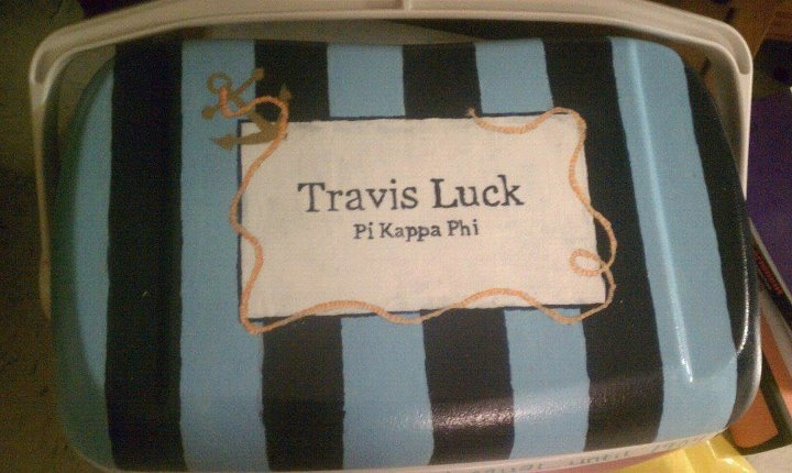 cooler ideasPainting Coolers, Frat Coolers, Formal Coolers, Greek Life, Coolers Ideas, Fraternity Life, Fraternity Coolers, Coolers Painting, Crafty Ideas
