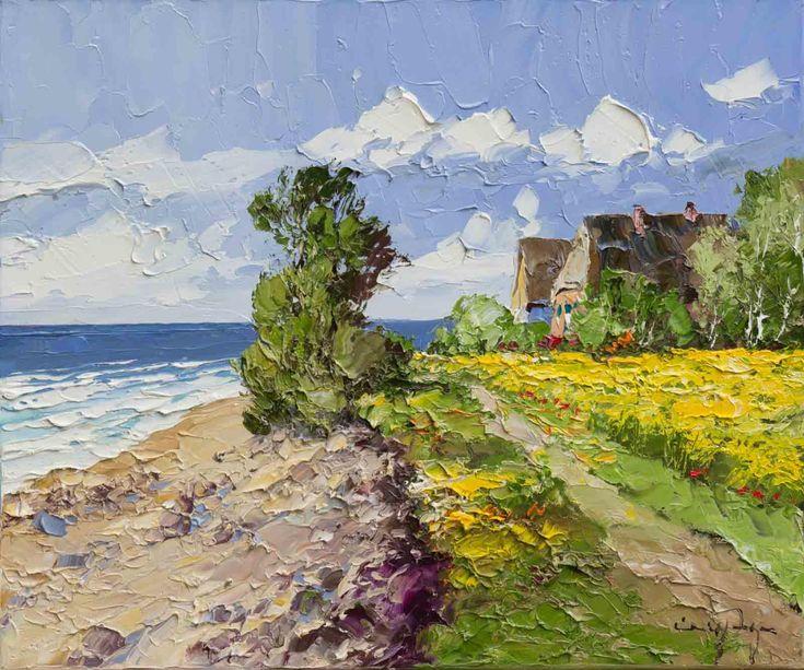 Artwork Name: Coastal Path. Artist: Erich Paulsen. Size: 24 x 20. Medium: Oil on Canvas.