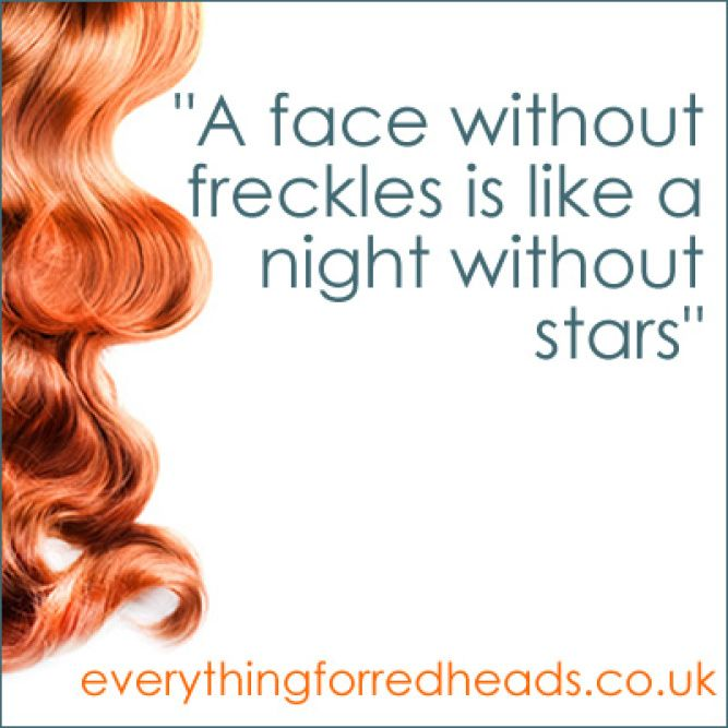 a face without freckles is like a night without stars #redheads