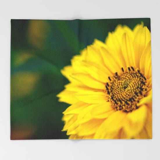 Fleece Blanket, Yellow Blanket, Flower Photography, Baby Girl Nursery Decor, Gifts For Gardeners Gift, Macro Photography Gifts