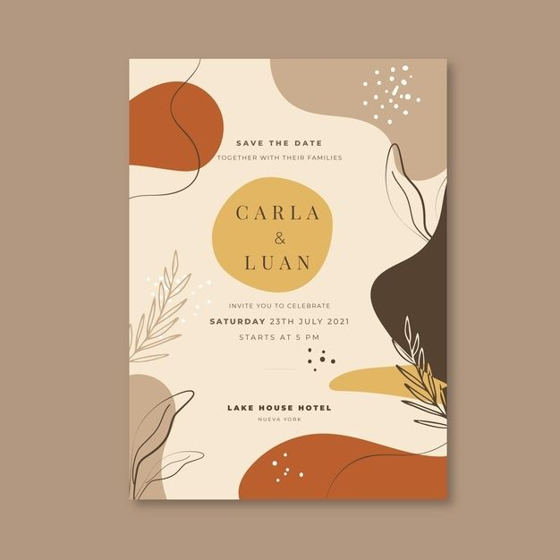 Download Wedding Invitation Template With Nature Ornaments For Free Wedding Invitation Templates Floral Wedding Invitation Card Retro Wedding Invitations