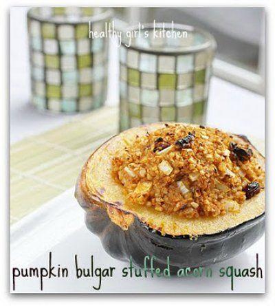 Pumpkin Bulgar Stuffed Acorn Squash   Recipes for Me ...